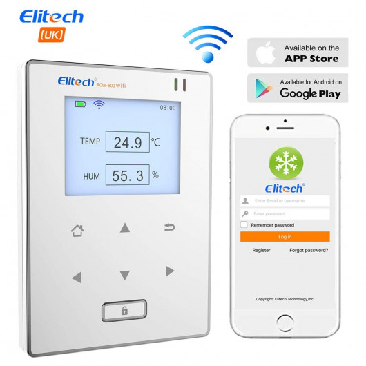 Elitech RCW-800, control the temperature and humidity