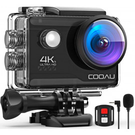 Cooau 4K, the action camera with external microphone