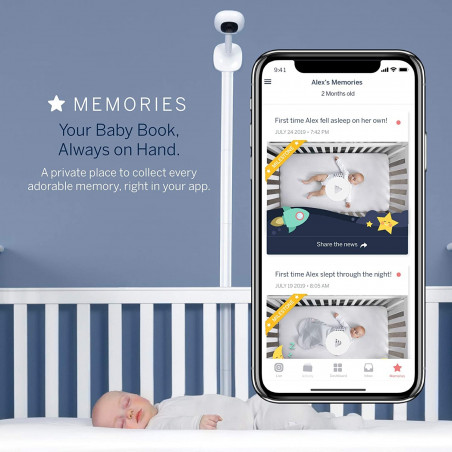 Nanit Plus monitor and wall mount, the more advanced baby monitor
