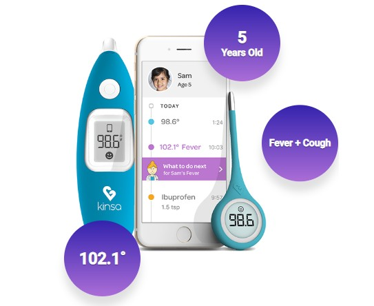 Kinsa Smart Stick, the connected thermometer