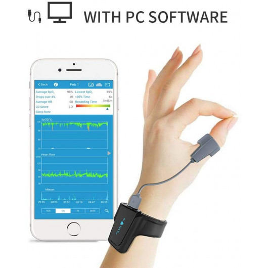 WellOxy Sleep Oxygen Monitor, monitor sleep apnea