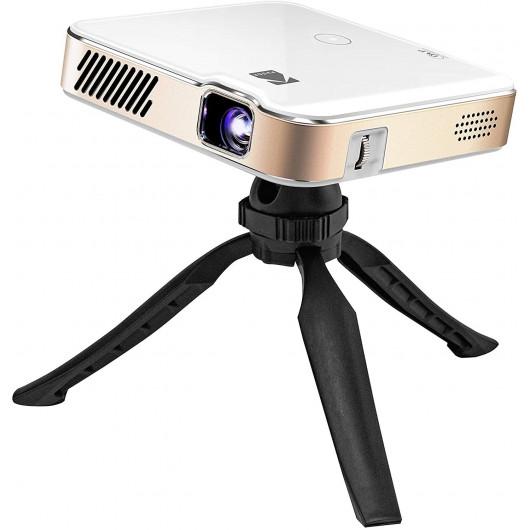 Projecteur KODAK Luma 450 HD 4K Connecté, Haut-parleur Intégré, avec Trépied noir