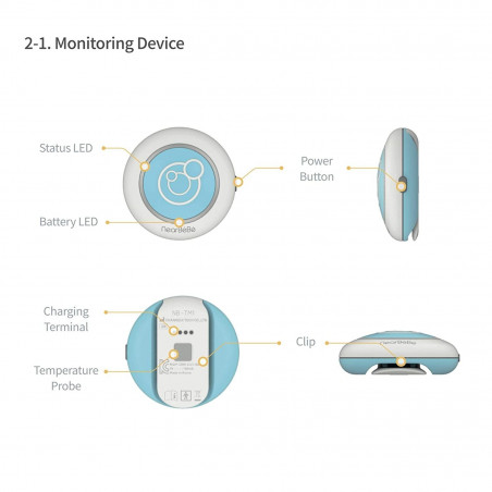 NearBeBe Care, the baby monitor connected to your smartphone